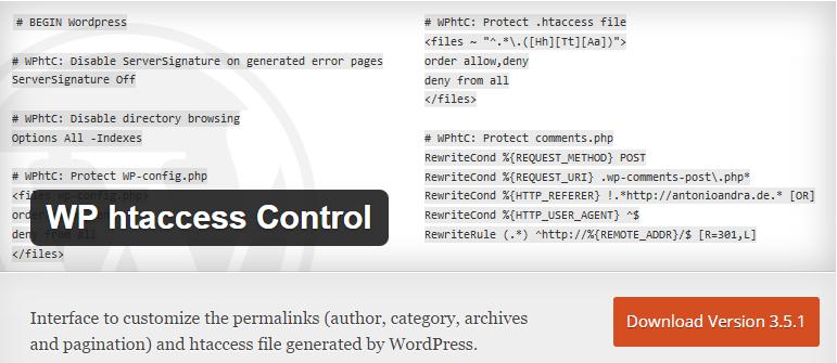 plugin WP htaccess Control
