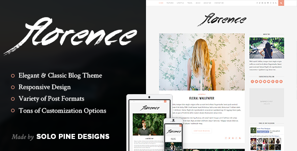 Florence thème blog WordPress