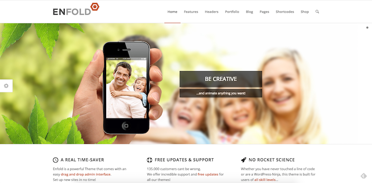 Enflod theme WordPress