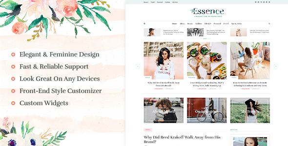 The Essence blog thème WordPress