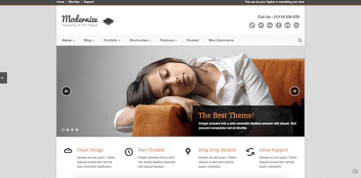 thème WordPress Modernize