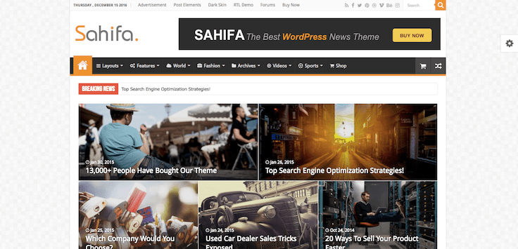 Sahifa thème WordPress