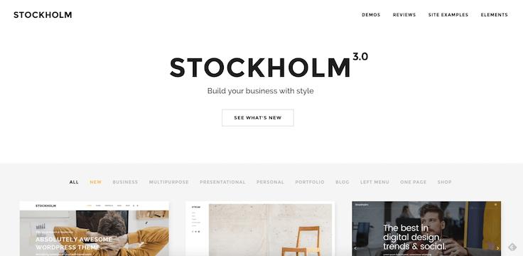 thème Stockholm WordPress