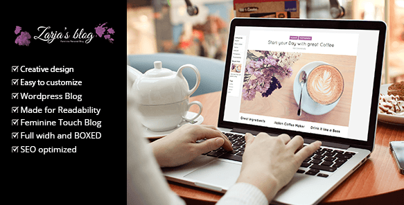 Zarja Blog thème WordPress