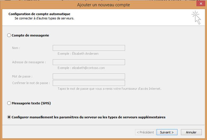 Configurer manuellement les paramètres du serveur