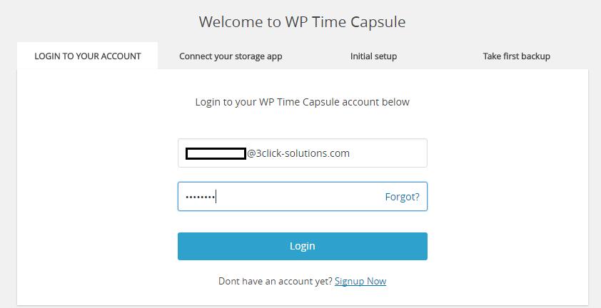 au compte WP Time Capsule
