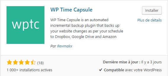 plugin WP Time Capsule