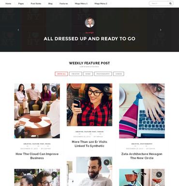 Crazy Blog thème WordPress