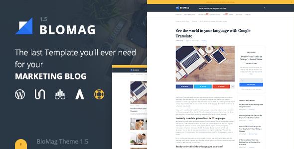 thème BloMag pour les blog WordPress