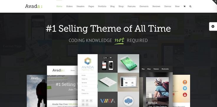 Avada theme WordPress