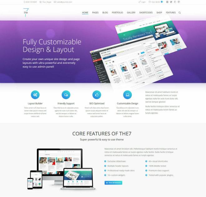The7 theme WordPress