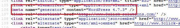 la version de votre site WordPress est visible